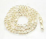 7mm Classic Royal Figaro Chain Necklace Real Solid 10k Yellow Gold All Sizes