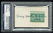 Daisy G. Lawrence Signed Autograph 2x3.5 Cut 1st American Girl Scout Psa Slabbed