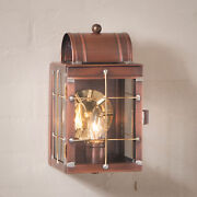Entry Door Wall Light Antique Copper Colonial Candle Lantern Outdoor Sconce Deck