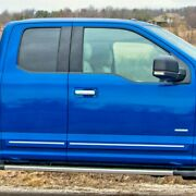 Painted Body Side Moldings With Chrome Insert For Ford F-150 Ext Cab 2015-2018