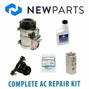 For Mercedes W124 E320 94-95 Ac A/c Repair Kit W/ New Compressor 6 Poly And Clutch