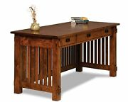 Amish Mission Craftsman Arts And Crafts Writing Desk Solid Wood Office Furniture