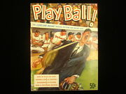 1953 Cleveland Indians Play Ball Picture And Record Book Yearbook Ex-mt