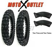 Honda Crf50 Tires Pair With Tubes 2.50x10 Xr50 Crf Xr 50 Tire Front Rear
