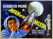 Man In The Moon 1960 Kenneth More Shirley Anne Field Rocket Uk Quad Poster