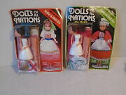 2 Craft House Dolls Of All Nations Kit Collectors' Series 9 Miss Italy And France