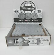 500 He Harris Whitman Nickel Round Clear Plastic Coin Tubes Screw Top
