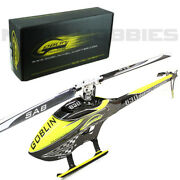 Sab Sg634 Goblin 630 Competition Yellow/carbon Helicopter Kit W/ Main/tail Blade