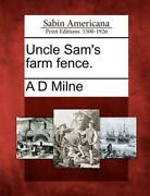 Uncle Sam's Farm Fence. By A.d. Milne English Paperback Book Free Shipping