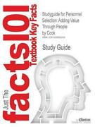 Studyguide For Personnel Selection Adding Value Through People By Cook, Isbn 97