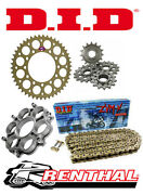 Renthal / Did 520 Race Chain And Sprocket Kit With Carrier For Ducati 1098 / S / R