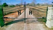 Steel - Iron Driveway Entry Gate 13and039 Home Yard Garden House Residential Security