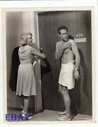 Paul Newman Barechested Vintage Photo The Prize Micheline Presle