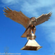 Massive Copper Eagle Finial Made In Usa Measures 23 By 28 By Ws 36 F115