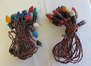 Multiple Vintage C-7and039s Christmas Lights Renown Bead String Lights