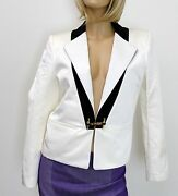 2450 New Authentic Jacket Top W/crystal Buckle Design Sz 42 287687