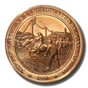Franklin Mint History Of Us Lincoln Elected Pony Express 1860 45mm Proof Bronze