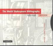 The World Shakespeare Bibliography On Cd-rom 1980 1996 By James L. Harner Engli