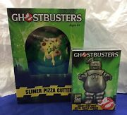 Ghostbusters Lot Of Sdcc Angry Stay-puft Opener And Slimer Pizza Slicer Mib