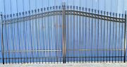 Wrought Iron Style Steel Driveway Entry Gate 15and039 Wd Residential Home Security