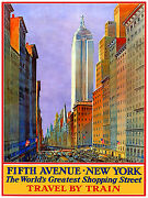 333.art Decoration Poster.graphic To Decor.travel New York Fifth Avenue By Train