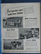 1949 Jeep Admany Uses On A Farm--willys-overland