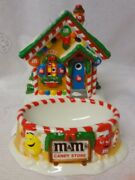 Vtg Dpt 56 Mandmand039s Candy Store Lighted House Gingerbread Cookies Dish Village Rare