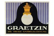 Graetzin Gas Lamps Vintage Ad Poster Germany 1910 24x36 Hot New Very Rare