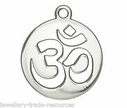 17mm Sterling Silver Om Charm / Pendant For Jewellery Marking