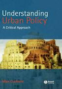 Understanding Urban Policy A Critical Introduction By Allan Cochrane English