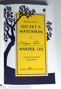 Harper Lee Author Rare Hand Signed 1st Edition Go Set A Watchman Book 117/500