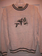 Mens Croft And Barrow Crew Neck Outdoors-men Boats Duck Ducks Hunting Sweater Xl