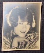 1930and039s Louise Fazenda Autographed Picture Vg+ 7.5x9.5 Early Movie Actress