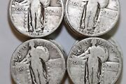Fast Shipping 10.00 Face In Full Date Good+ Standing Liberty Quarters -num2092