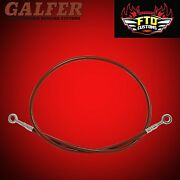 Hayabusa Galfer Red 36 Extended Rear Brake Line For Swingarm Extensions