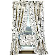 New French Country Cottage Chic White Paris Grain Sack Panels Window Curtain 63