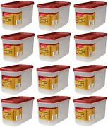 12 Ea Rubbermaid 1776471 Racer Red 10 Cup Dry Food Plastic Storage Containers