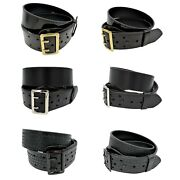 Perfect Fit Sam Browne Duty Belt Black Leather Size 28-60 Police Security Usa
