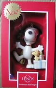 Lenox Christmas Morning Snoopy Ornament Peanuts Woodstock - Box Is Not Perfect