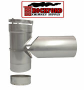 Chimney Liner 6 In. Tee And Tee Cap With Clean Out And 10 In. Snout Rock-flex