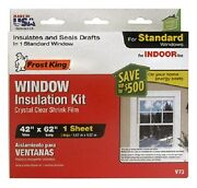 24 Ea Thermwell V73h Frost King 42 X 62 Indoor Shrink Window Insulator Kits