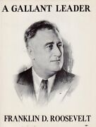 1936 Classic Franklin D. Roosevelt Campaign Flyer Poster A Gallant Leader