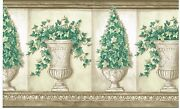 Gardening Potted Plants And Vines Fully Grown Wallpaper Border Wall