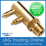 Brass Fuel Tank End Fitting For Yamaha And Mercury/mariner-boat/outboard Fuel Line