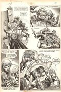 Savage Sword Of Conan 69 P.43 - Action Vs Lion And Cyclops - 1981 By Ernie Chan