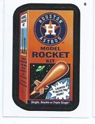 2016 Wacky Packages Mlb Baseball Red Ludlow 6 Astros Model Rocket Only 10 Made