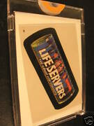 1986 Topps Wacky Packages Album Stickers 28 Life Savers