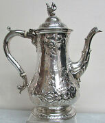 Exquisite George Sharp / Bailey And Co Sterling Silver Squirrel Finial Coffee Pot