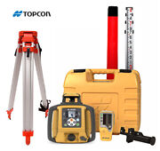 Topcon Rl-sv2s Dual Slope Rotary Laser Level Alkaline Battery Tripod 16and039 Rod