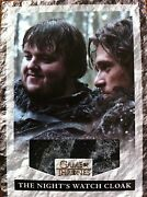 Game Of Thrones Relic Card Variant Nightand039s Watch Cloak With Prop Snow Costume
